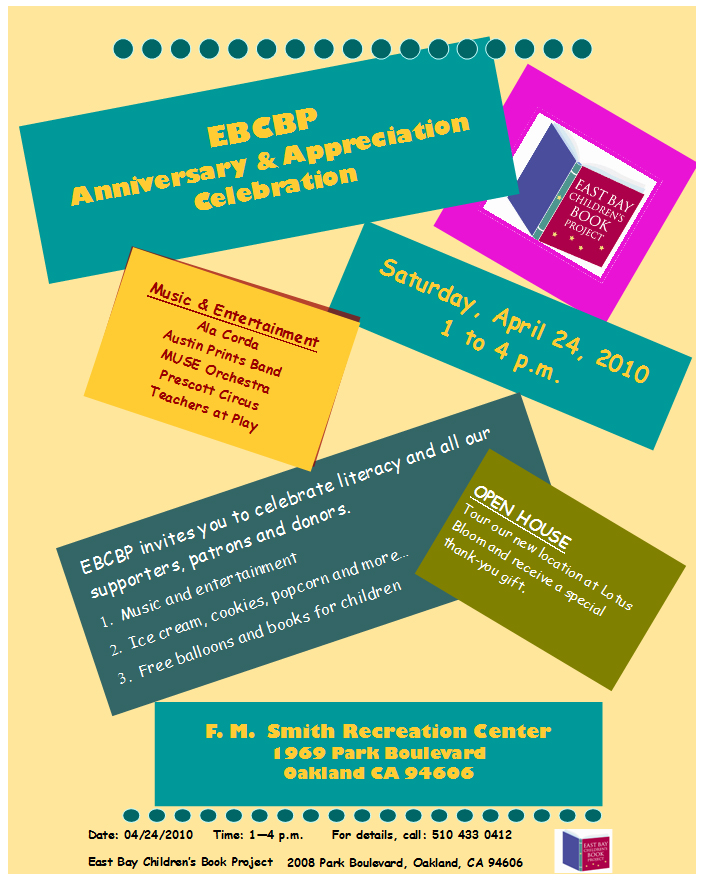 Join us as EBCBP celebrates its five year annivesary.