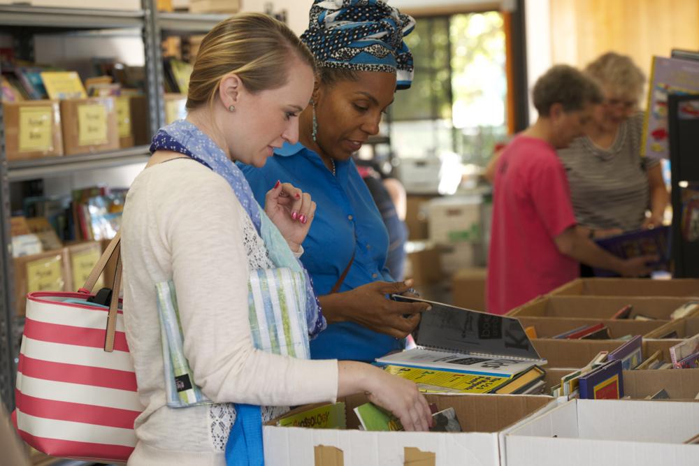 teachers getting books